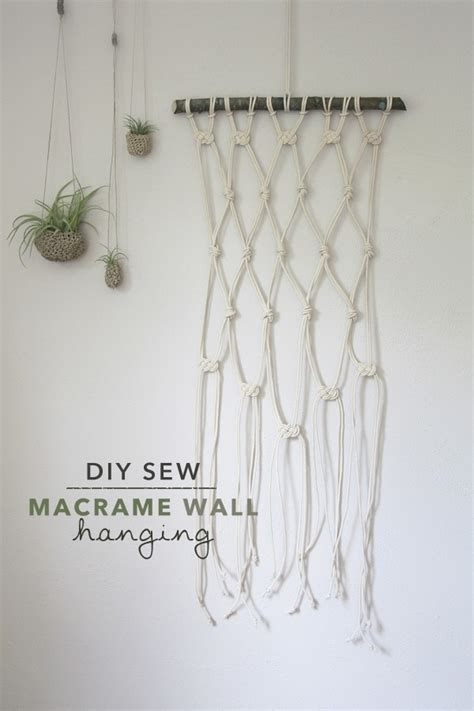 Macrame Projects For Beginners - macrame wall hanging 183 how to make a hanging 183 needlework