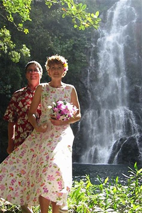 Belize Marriage Records Intimate Wedding At A Waterfall In Belize
