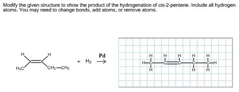 2 pentene hydration modify the given structure to show the product of