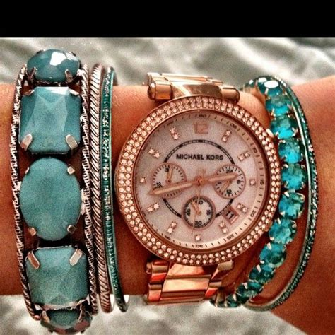 Michael Kors 6331 White Rosegold Combi 17 best images about jewelry trends on fall jewelry arm candies and bracelets