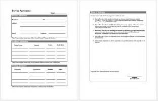 it service template free printable it service agreement template form generic