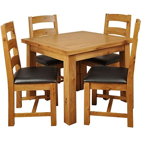Solid Oak Dining Table And 4 Chairs Asda Site