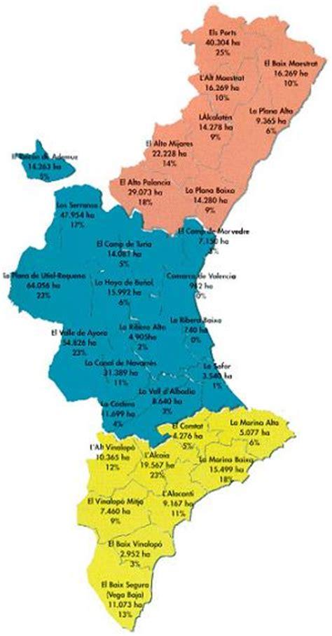valencia y comunidad valenciana 8497760484 superf 237 cie forestal arbrada de les comarques valencianes generalitat valenciana