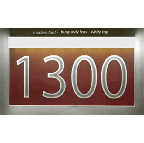 light up address plaque light up wall mount address plaque 6 quot x 12 quot