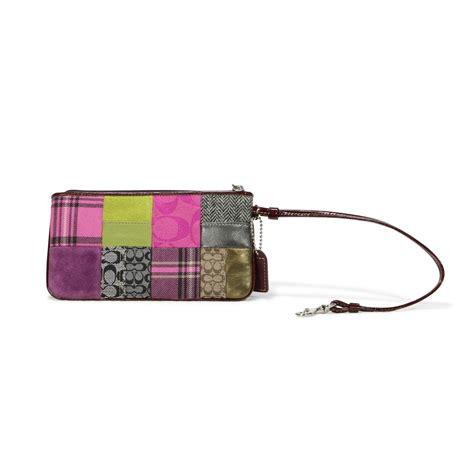 Wrislet Large Patchwork second coach patchwork wristlet the fifth collection