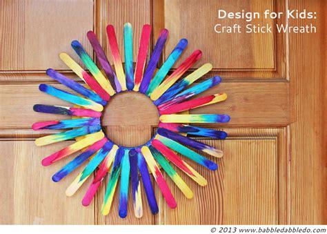 craft sticks project ideas craft stick wreath babble dabble do