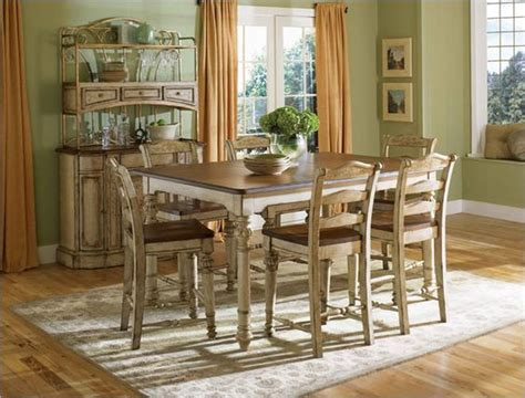 Antique White Dining Room Sets broyhill everyday dining continents counter table set in