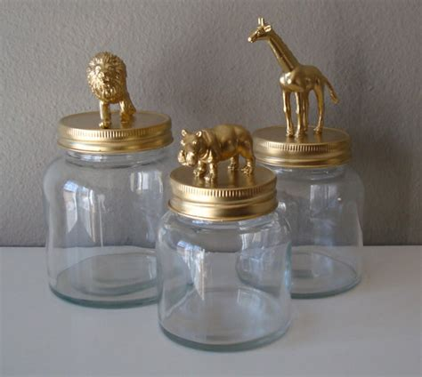 home decor jars reserved for sheila home decor storage jars gold hippo