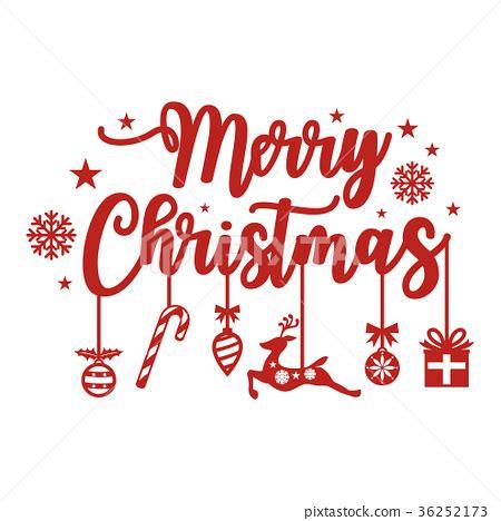 merry christmas lettering design stock illustration  pixta