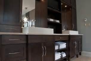 espresso cabinets bathroom espresso cabinets contemporary bathroom deslaurier