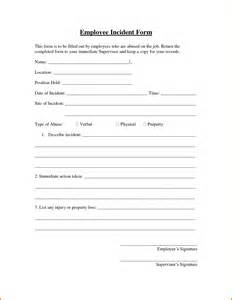 Employee Incident Report Form Template by 7 Employee Incident Report Template Expense Report