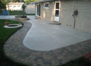Concrete Patio Ideas For Small Backyards Backyard Concrete Patio Ideas Backyard Landscaping Ideas