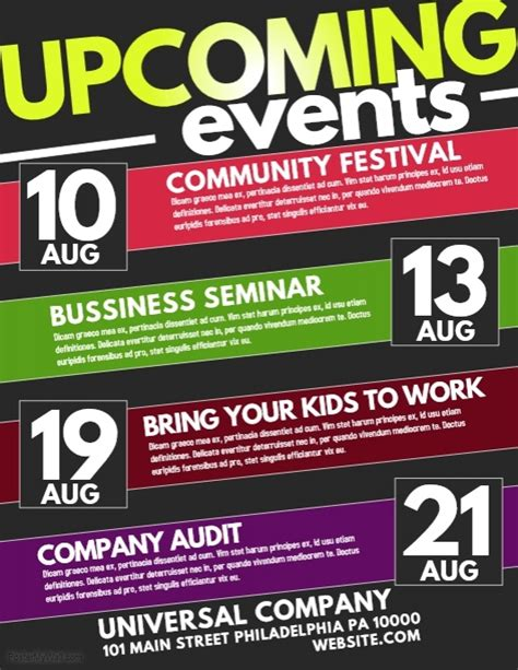 Event Flyer Templates Free Downloads Postermywall Event Poster Templates Free