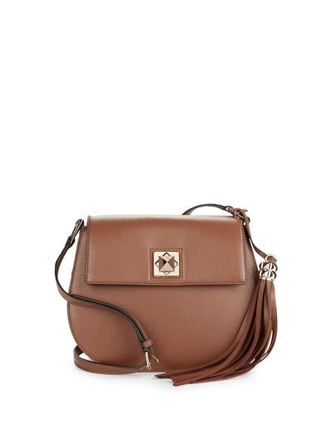 Karl Lagerfeld Says Get A Bag Perhaps From His New Purse Line by Karl Lagerfeld Crossbody Bag In Brown Saddle Lyst