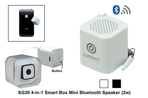 Smart Box Mini Speaker Bluetooth Smar Sg26 4 In 1 Smart Box Mini Bluetooth Speaker 2w