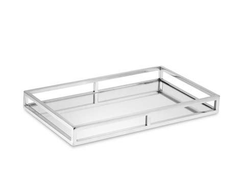 tablett glas silver mirrored tray williams sonoma