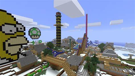 theme park minecraft amusement park for 1 7 minecraft project