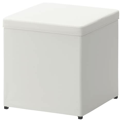 Bosn 196 S Footstool With Storage Ransta White Ikea Ottoman Storage Ikea