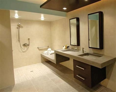 wheelchair accessible bathroom design 23 bathroom designs with handicap showers messagenote