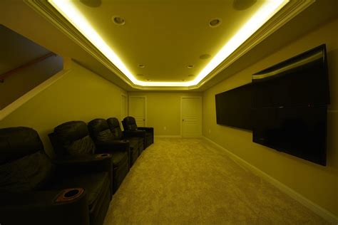 Basement Hidden Led Lights Ideas Basement Masters Hiding Led Lights