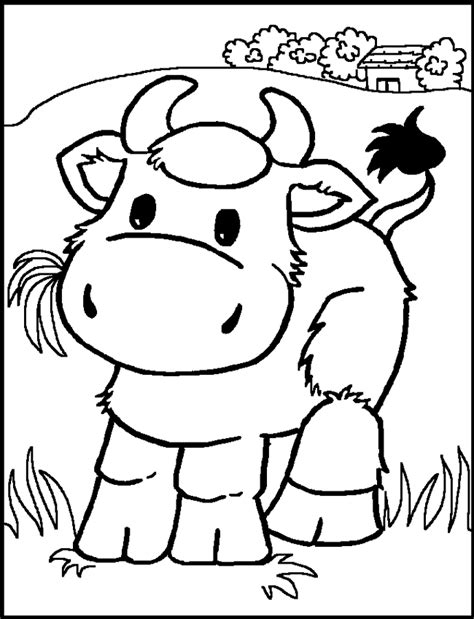 cow farm coloring page coloring pages for kids cow color page animal coloring