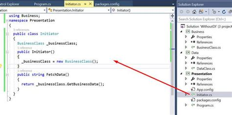 tutorial unity dependency injection dependency injection using unity resolve dependency of