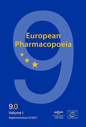 european pharmacopoeia 9th edition | edqm