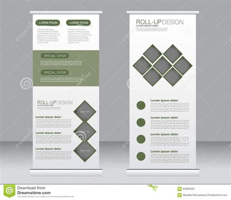 banner stand template roll up banner stand template abstract background for
