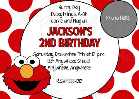 elmo birthday card template elmo invitations invitations templates