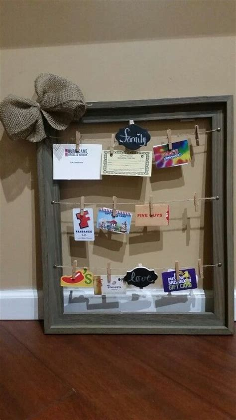 Gift Card Raffle Display - auction basket made this to auction off at fundraiser cute way to display gift cards