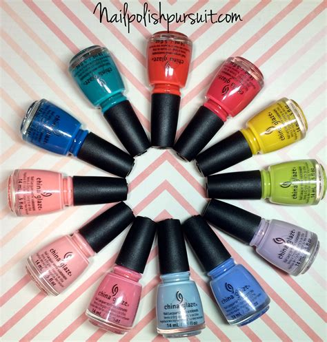 china glaze spring 2015 road trip swatches review china glaze spring 2015 road trip collection swatches