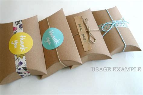Handmade Gift Packing - kraft gift boxes kraft pillow boxes packaging box 3 x 3 5