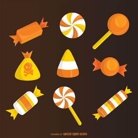 imagenes de halloween vector elementos de las pastillas de caramelo de halloween