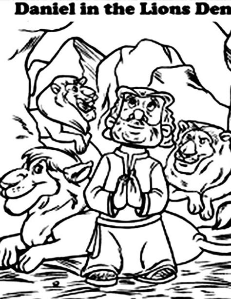 Daniel Praying Coloring Pages by Daniel Praying Facing Jerusalem In Daniel And The Lions