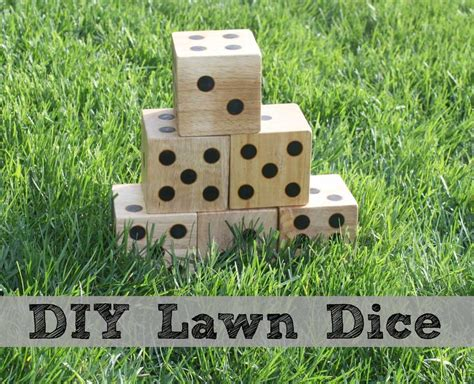 diy wooden games diy wooden yard dice sometimes homemade