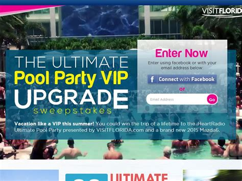 Vip Ticket Giveaway Vacation - iheart radio ultimate pool party visit florida vip giveaway sweepstakes sweepstakes