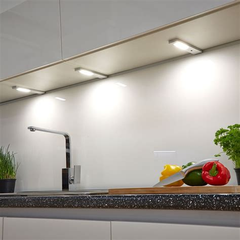 led under cabinet kitchen lights quadra modern led under over cabinet light without sensor