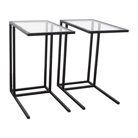 67% OFF   IKEA IKEA Glass End Tables / Tables