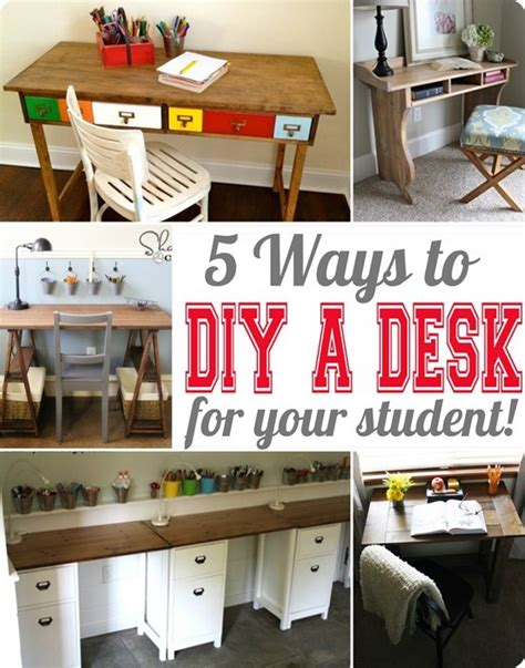 diy student desk 5 ways to build a desk for your student