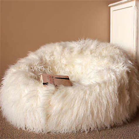 large shaggy fur bean bag cover cloud chair beanbag