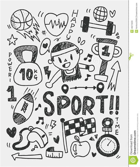 doodle sport sports doodles gallery
