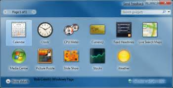 windows7 gadgets