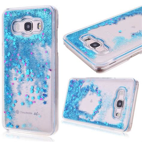 Fashion Water Gliter For Samsung Galaxy J7 clear dynamic liquid glitter colorful paillette sand cover for samsung galaxy