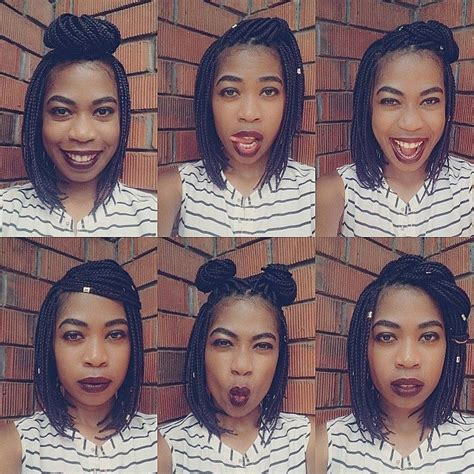 different ways to style a short aline short box braids styles bob braids bob braids styles the