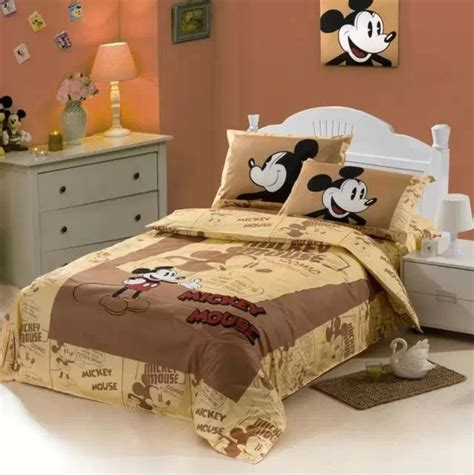 mickey mouse bedding mickey mouse cartoon comforter bedding sets single twin size bed duvet covers bedclothes cotton