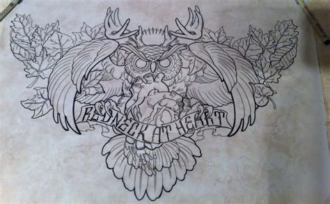 owl chest piece tattoo designs chest at owl design by