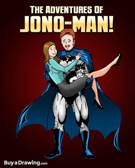 adventures  jono man superhero cartoon caricature