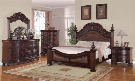 poster bedroom furniture set with leather headboard poster bedroom furniture set 123 xiorex