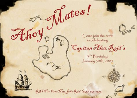 treasure map invitation template birthday invitations treasure map at