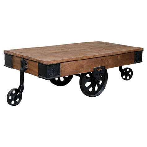 rail cart coffee table for the home